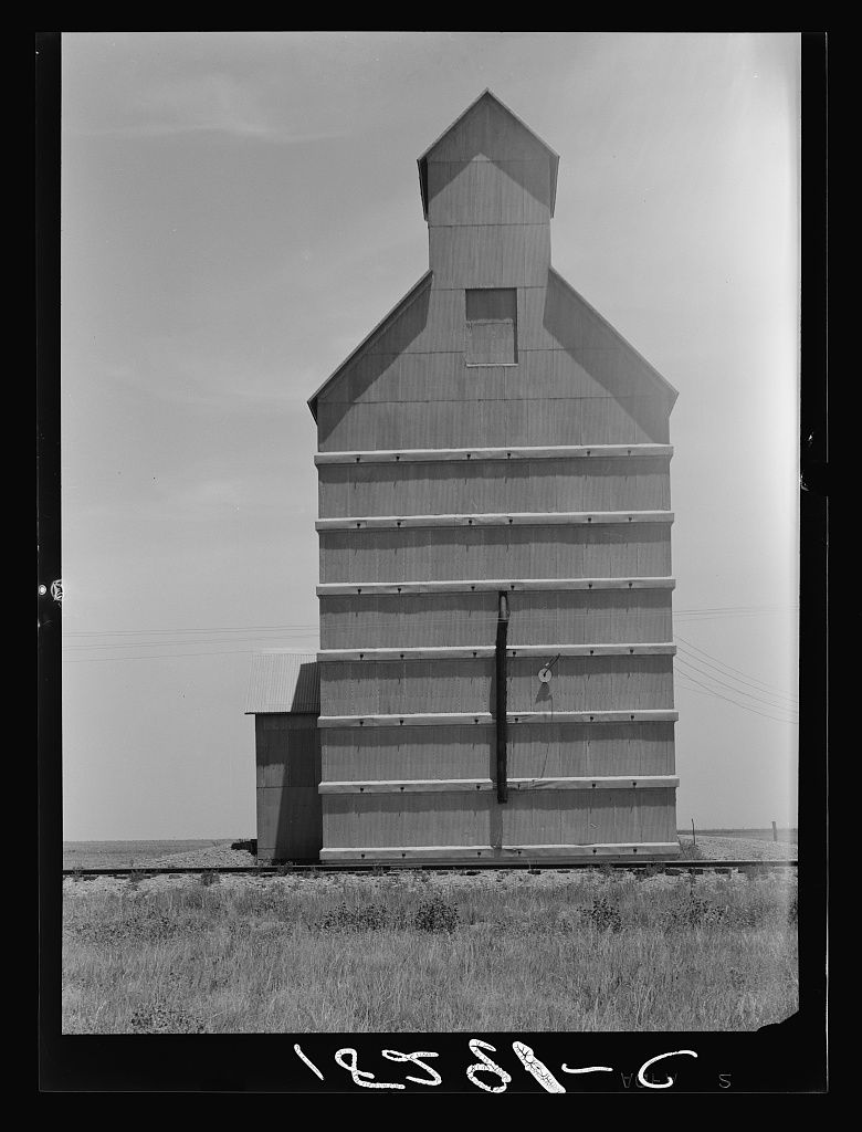 Grain Elevator On The Texas Panhandle Plains Everett Texas