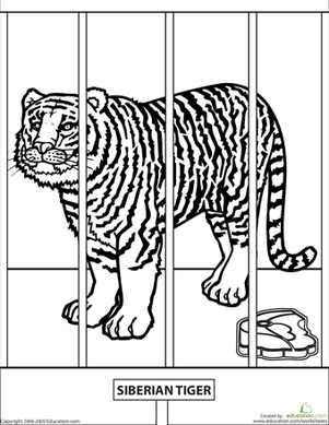 educational coloring pages zoo animals - photo#21