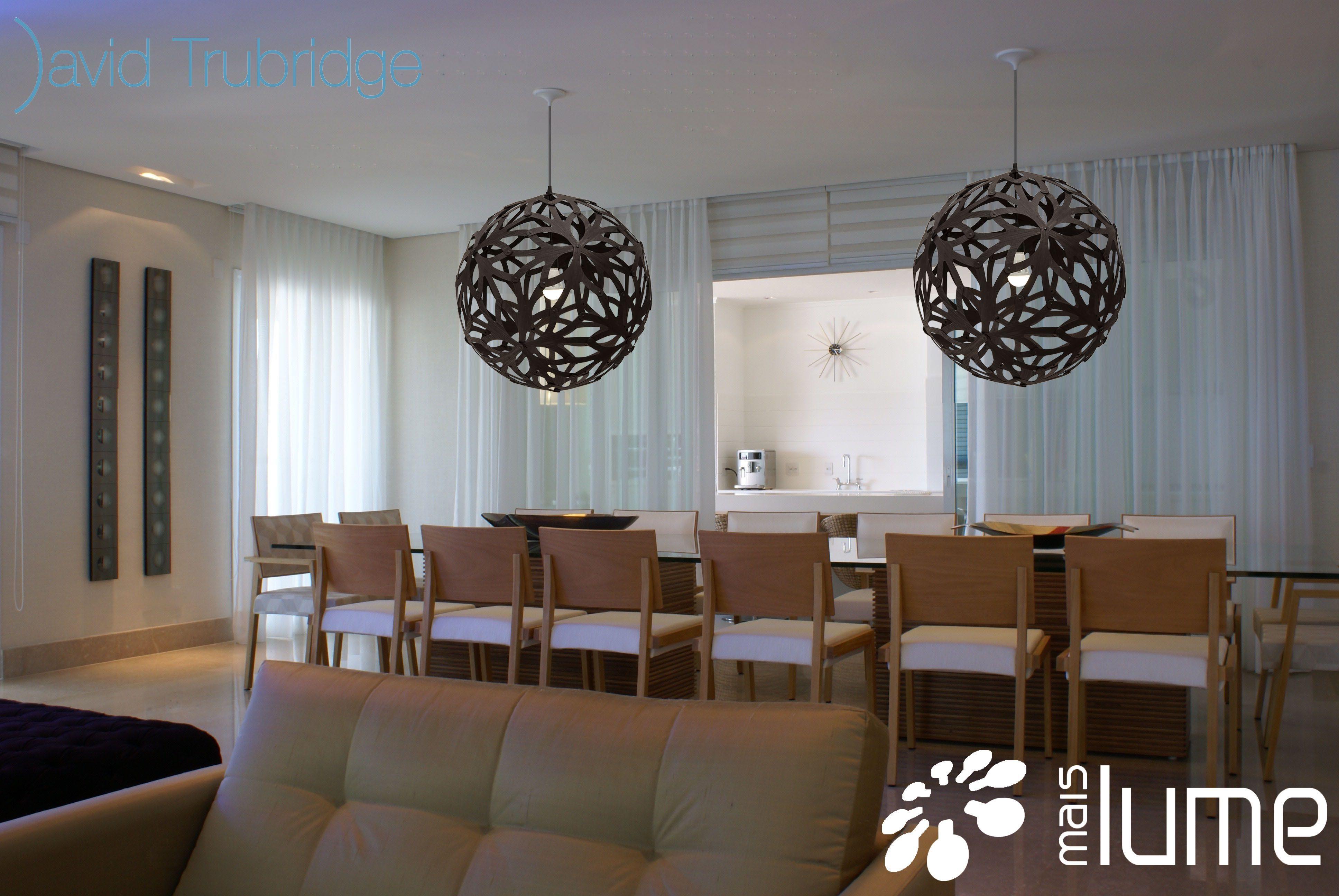 Luminária Pendente Floral - David trubridge - Mais Lume maislume@gmail.com www.maislume.com