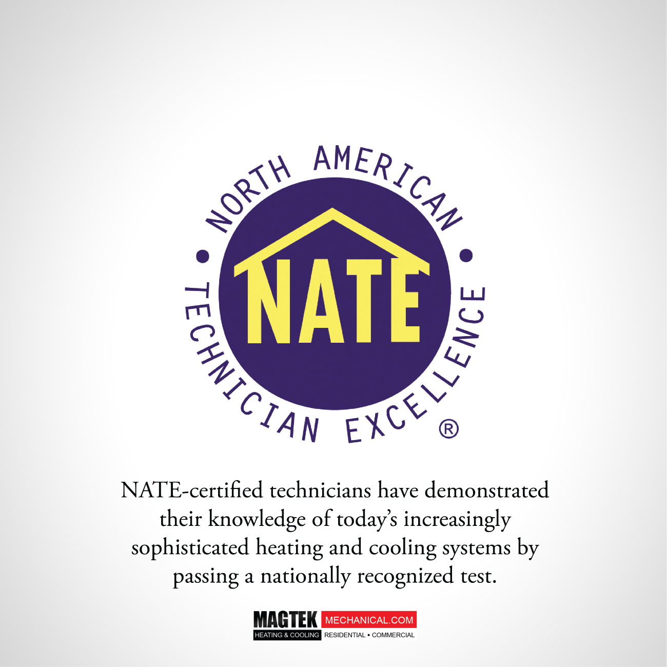 Magtek Is Proud To Say We Are Nate Certified Magtek Hvac