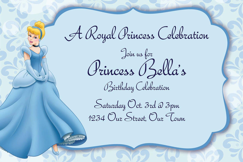 cinderella birthday party invitations