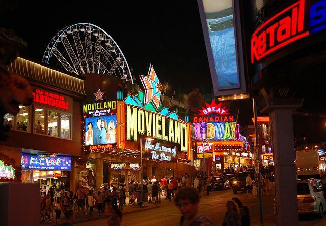 Niagara Falls Canada Tourist Strip Niagara Falls Canada