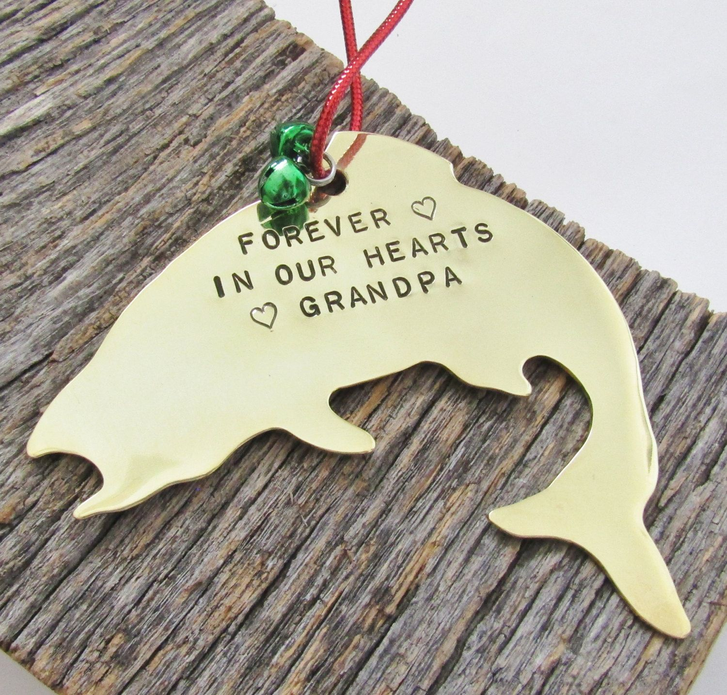 In memory of ornaments - Memorial Ornament Grandpa Fishing Grandfather Remembrance Ornament In Loving Memory Gift Loss Of Mother Child Father Forever In Our Heart