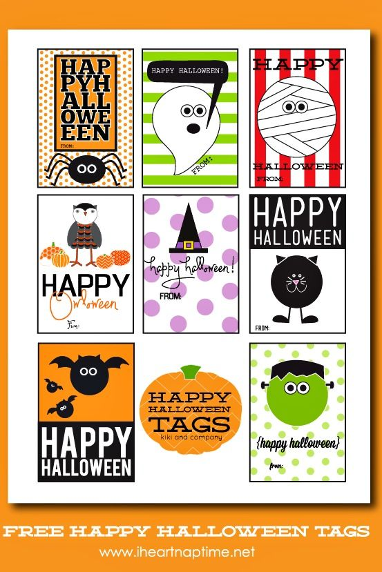 photograph relating to Printable Halloween Labels titled Content Halloween Tags cost-free printable A Spooktacular