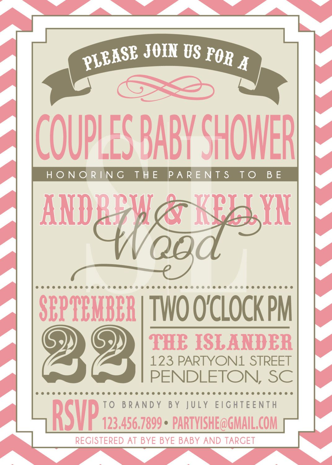 COUPLES BABY SHOWER invitation. $18.00, via Etsy. | Adrienne\'s Baby ...
