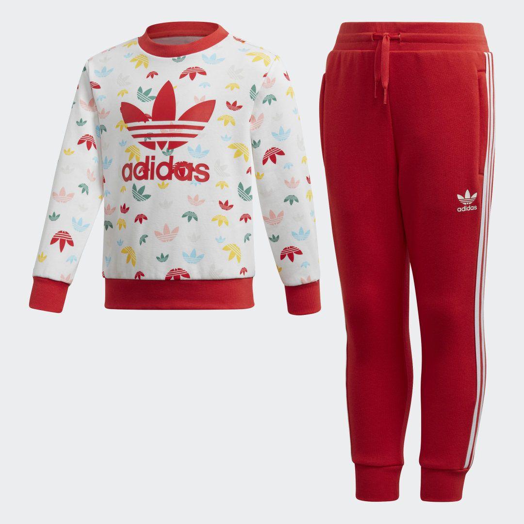 adidas Crew Sweatshirt Set Kids