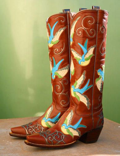 a8a987c0646 Luv Birds Boots. ROCKETBUSTER HANDMADE CUSTOM BOOTS, The Official ...