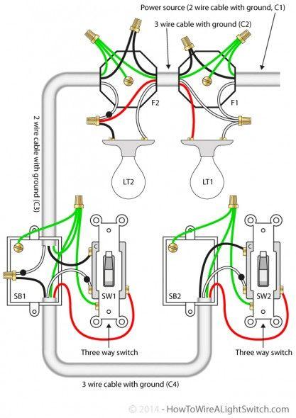 Three Way Switch Wiring Diagram Multiple Lights En 2020  Con Im U00e1genes