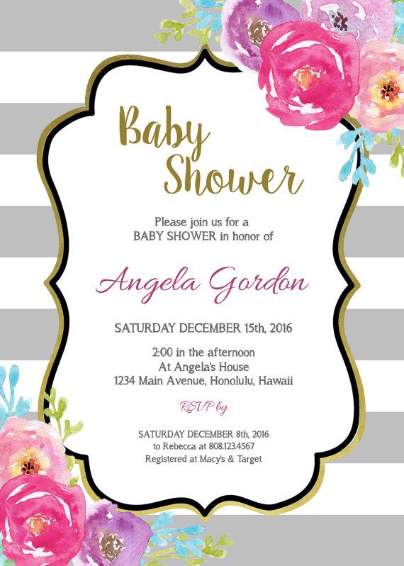 Navy Blue Bridal Shower Invitation Boho White Floral Bridal