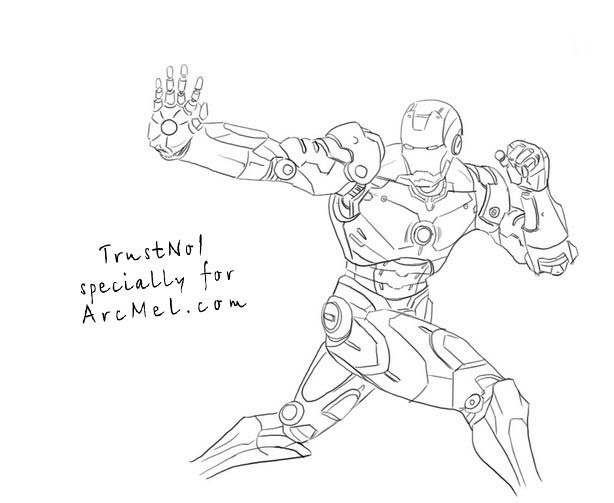 How To Draw Iron Man Step By Step Drawings Iron Man Pictures To Draw