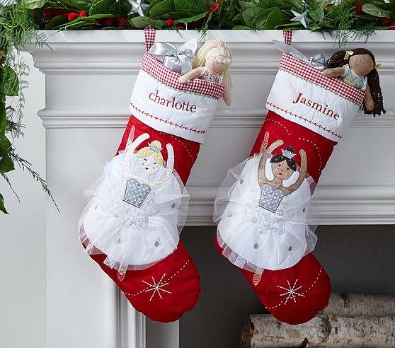 Silver Ballerina Quilted Stocking | Pottery Barn Kids | Babies and ... : pottery barn kids quilted stocking - Adamdwight.com