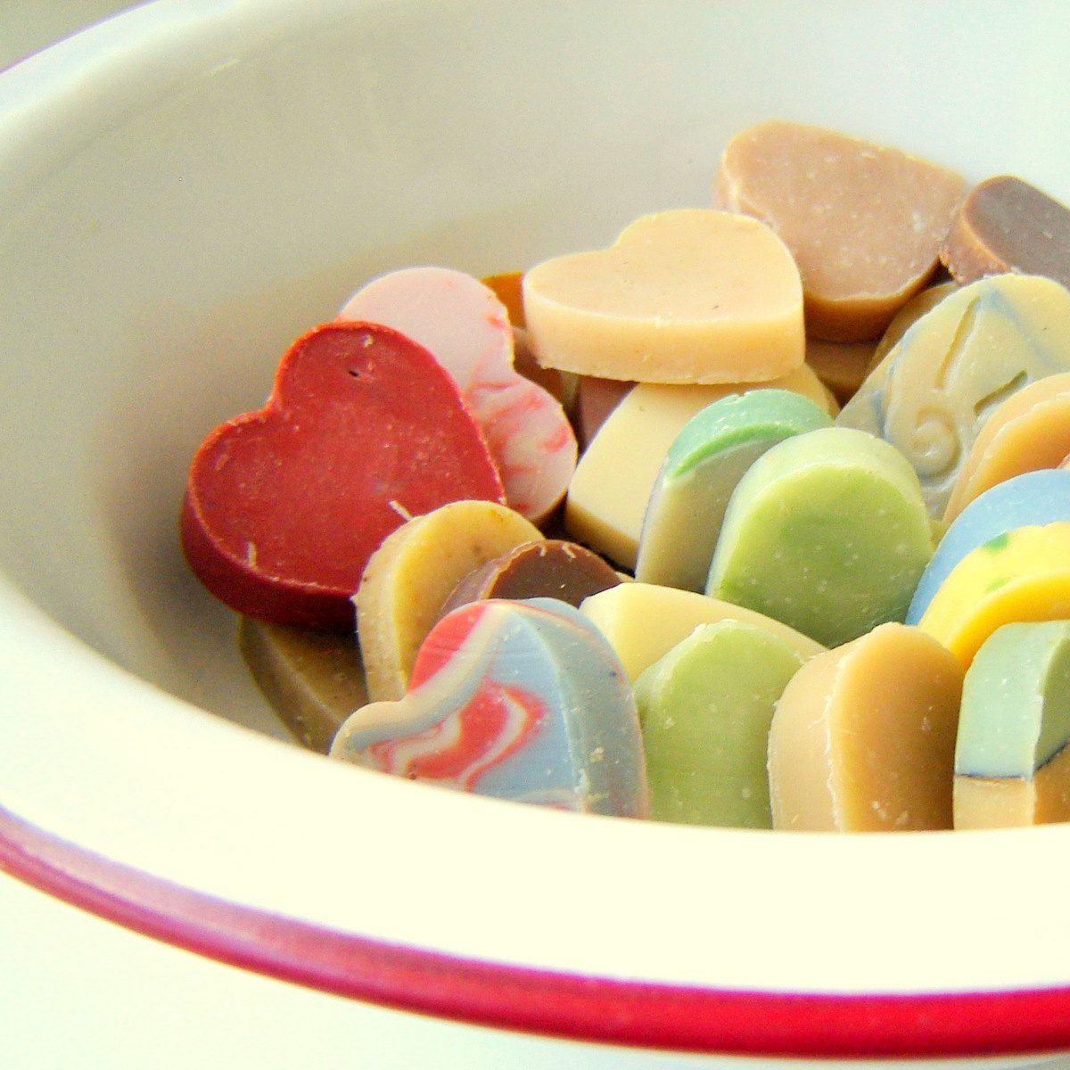 DIY Wedding favors - 50 Heart Shaped Soaps - Bridal Shower / baby shower. $52.50, via Etsy.