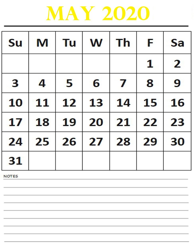 May 2020 Calendar School For Best Weekend Event