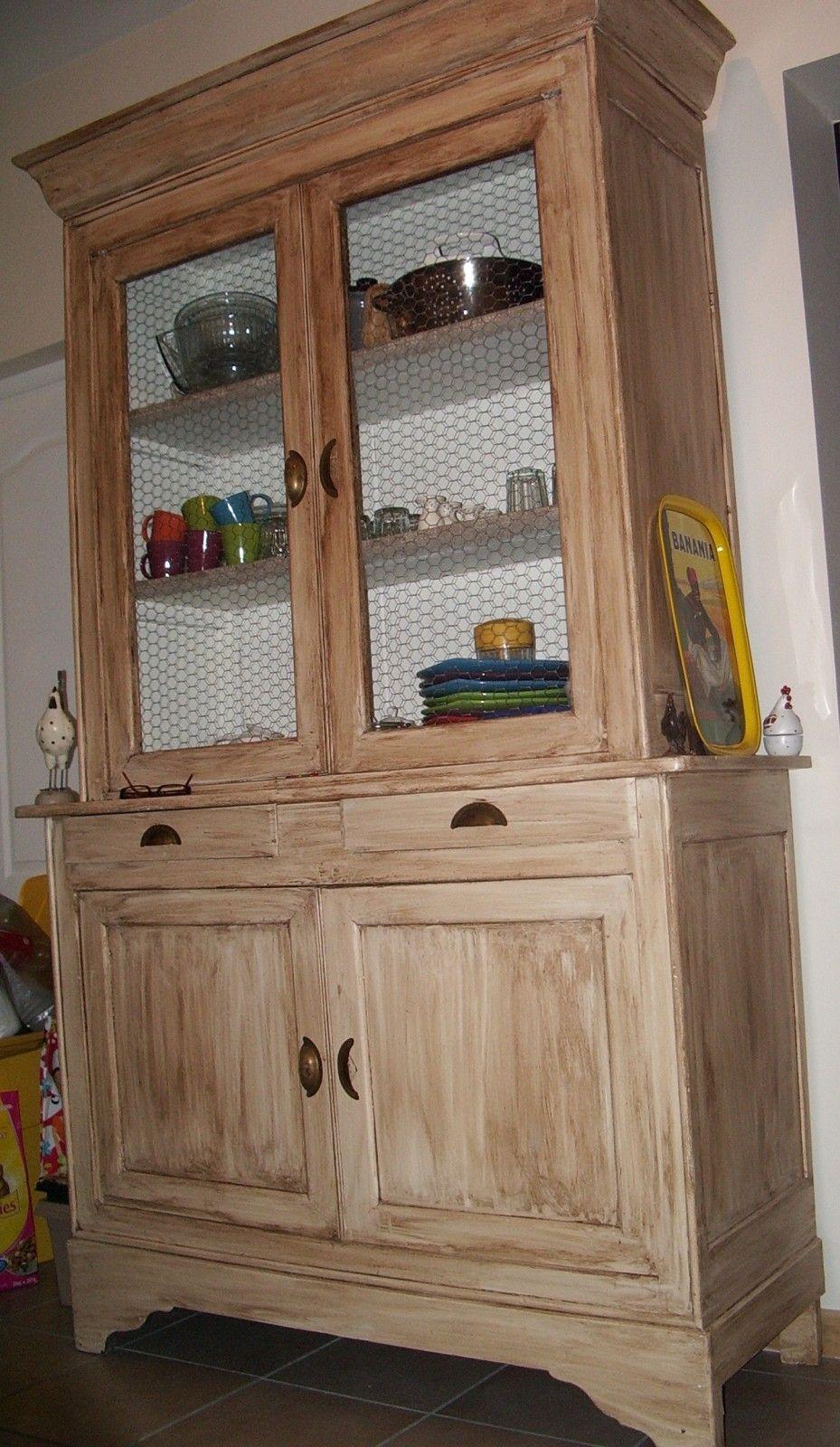buffet relook diy pinterest grillage poulets relooker et porte de. Black Bedroom Furniture Sets. Home Design Ideas