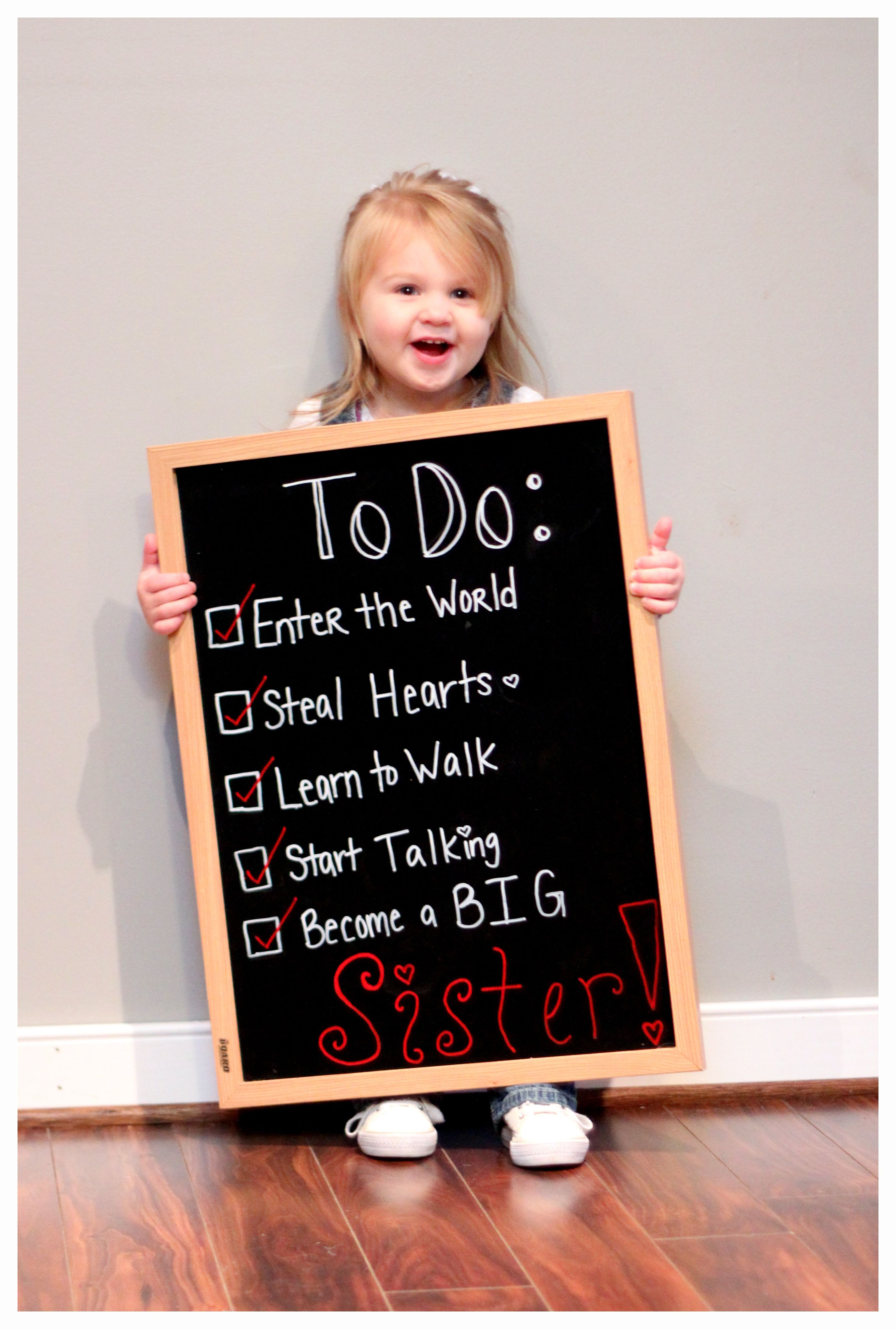 Such a cute birth announcement for a second child | Baby ... |Second Baby Announcement