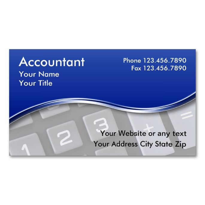 accountant business cards make your own business card with this great design all you need is to add your info to this template - Accountant Business Card