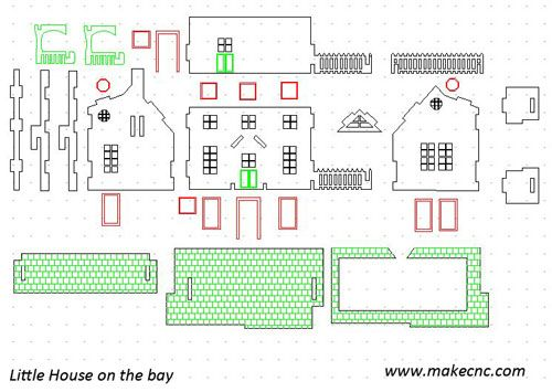 Free Doll House Dxf Pattern Router Forums Miniature Houses