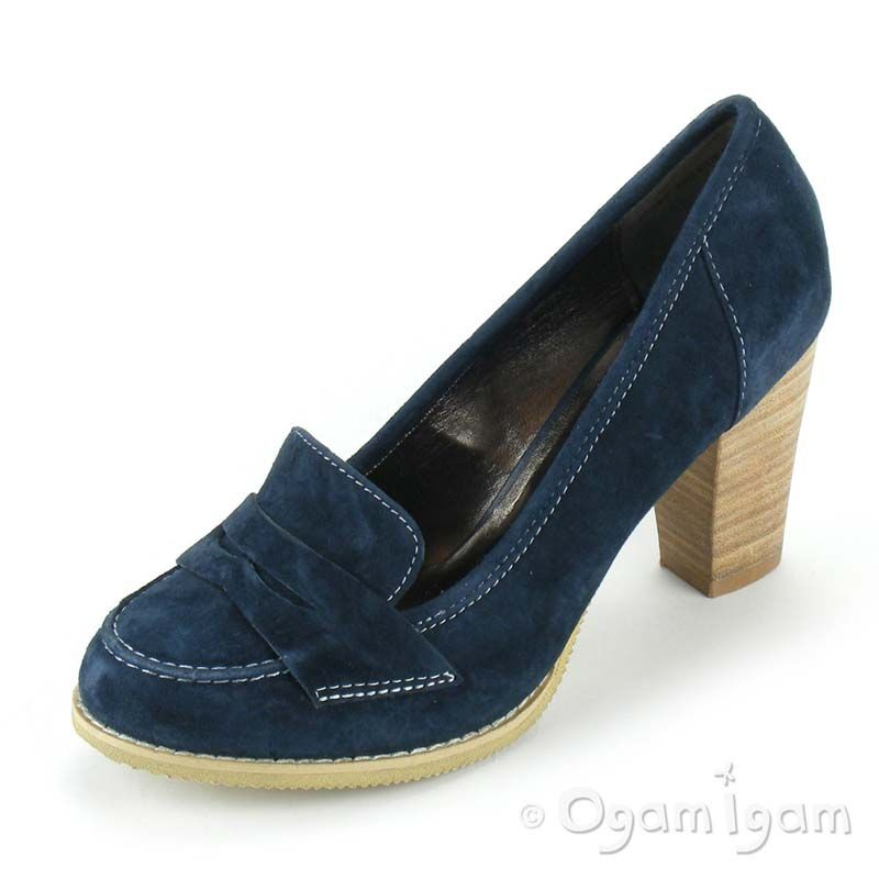 Hush Puppies Eden Womens High Heel Navy Blue Shoe Ebay Heels Navy Blue Shoes Blue Shoes