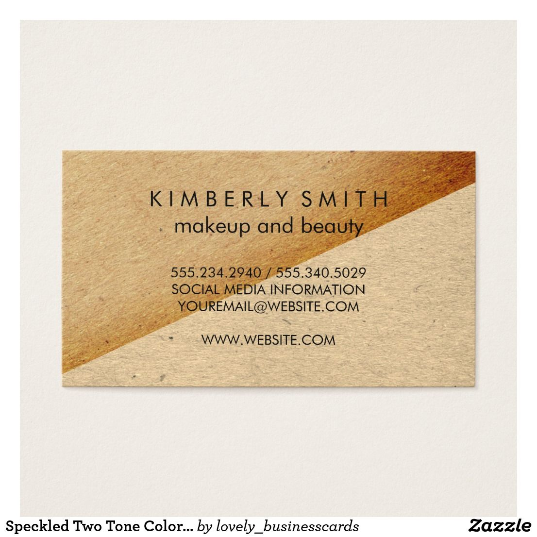 Speckled Two Tone Color Blocks Business Card Business Cards And
