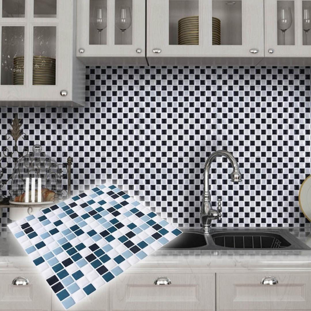 Waterproof 3D Wall Tiles Wallpaper Kitchen Bathroom Self Adhesive Wall Stickers