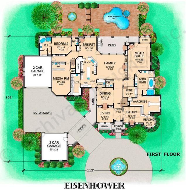 Best Eisenhower House Plan First Floor Plan Change Bdrm 2 To 400 x 300