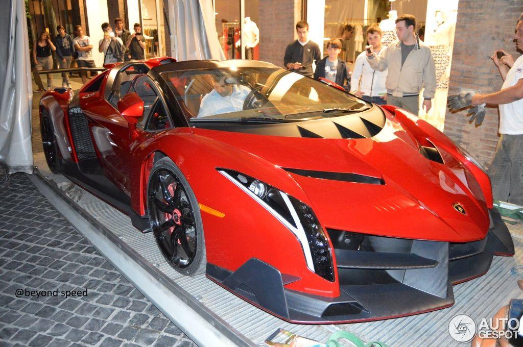 Etonnant Lamborghini Veneno Roadster Orange