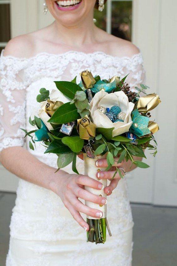 paper wedding bouquet / http://www.deerpearlflowers.com/paper-flower-wedding-ideas/