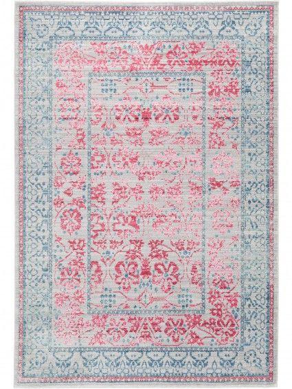 Teppich Visconti Grau Pink Teppiche Carpets Pink