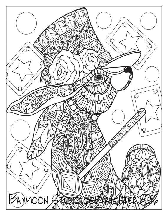 magic rabbit coloring page