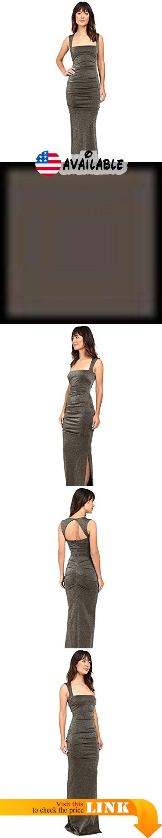 B01kywjw8e Nicole Miller Women S Lurex Ponte Felicity Gown Gold Dress Size Chart An Elegant Evening Awaits You In This Bre