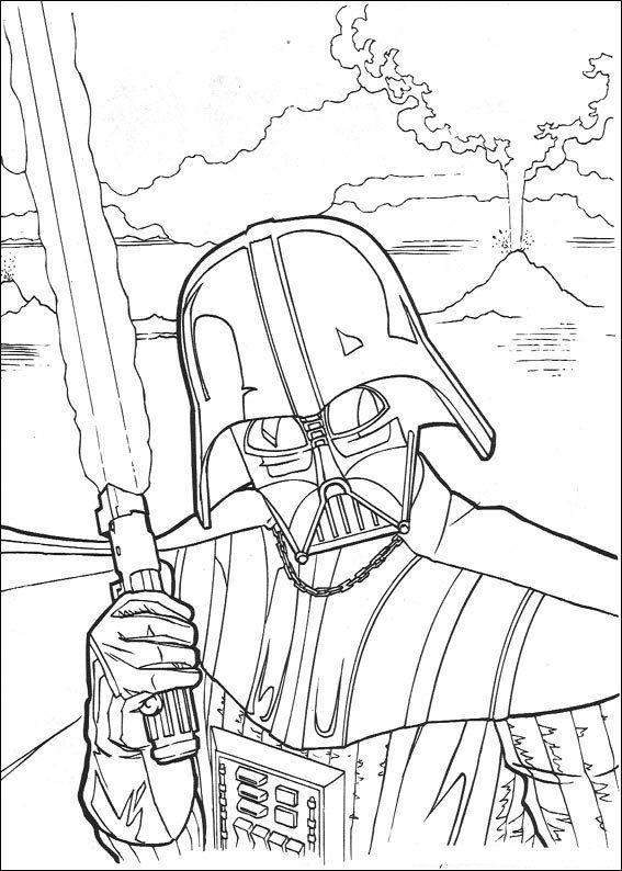 Kleurplaat Star Wars Star Wars Star Wars Pinterest Star