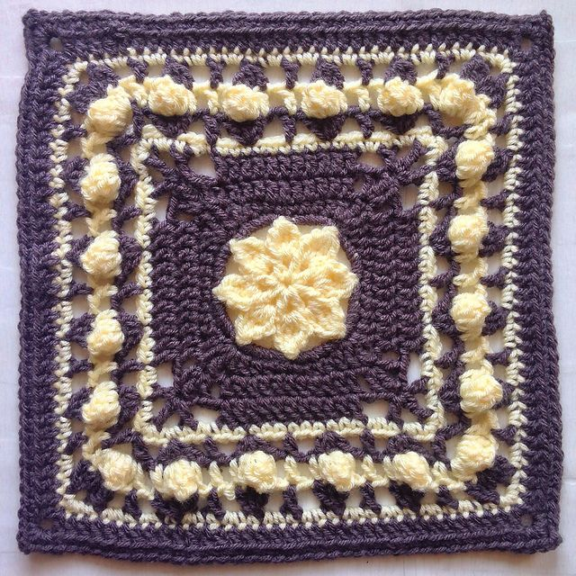 """Ravelry: Project Gallery for Princess - 12"""" Square pattern by Melinda Miller"""