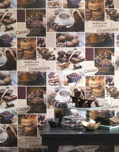 Küchen Tapete Rasch Schokolade Rosé Braun 869200