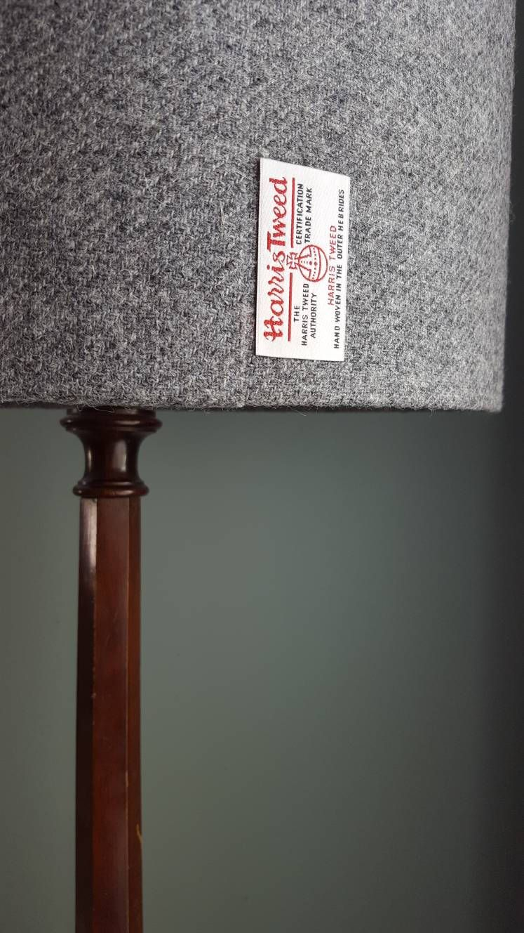 Large Harris Tweed Floor Lampshade Scottish Country Decor
