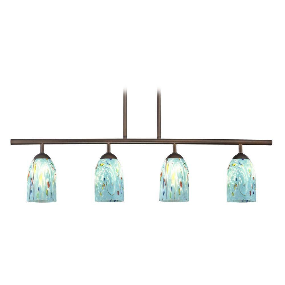 Design Classics Lighting Modern Island Light in Neuvelle Bronze Finish 718-220 GL1021D