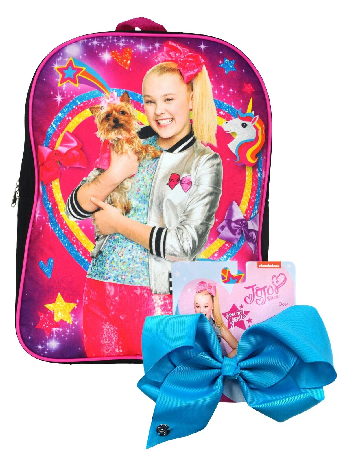 Price 17 99 Jojo Siwa Girls 15 Backpack Rainbow Stars Unicorn Large Blue Bow 2 Piece Set Jojo Siwa Blue Bow Jojo Siwa Outfits