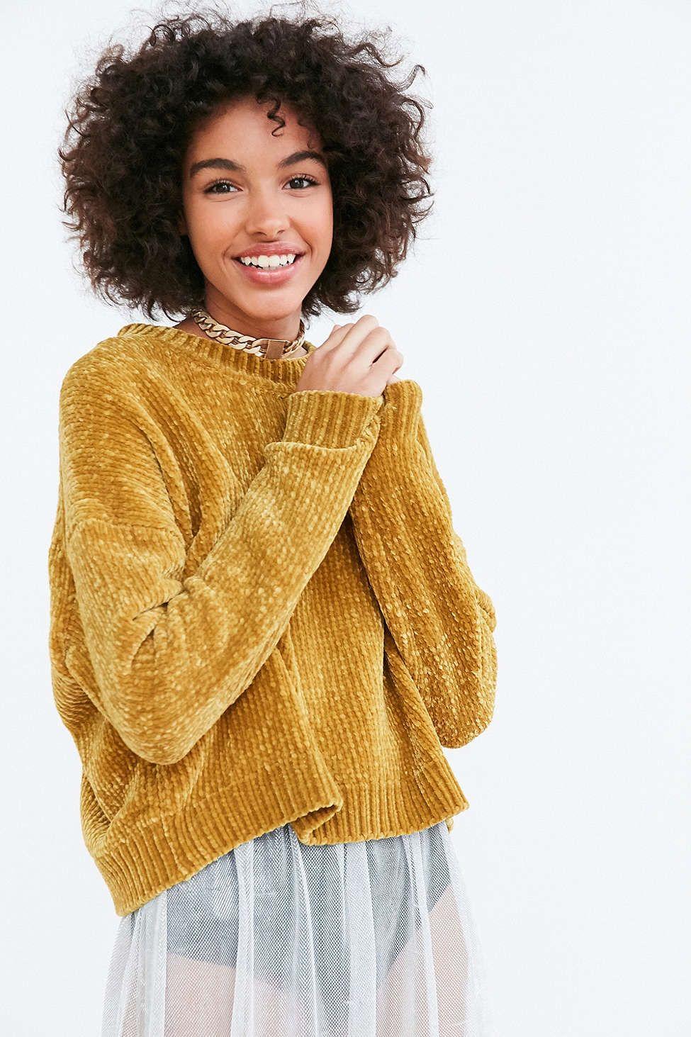 Silence   Noise Velvet Chenille Pullover Sweater | Pullover ...