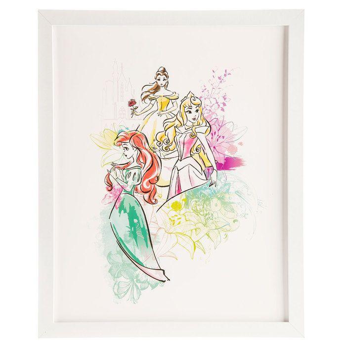 Disney Princess Character Collage: Belle, Sleeping Beauty & Ariel ...