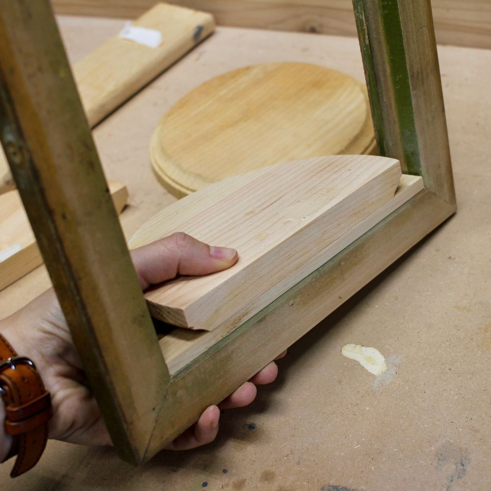She presses a wood piece to a thrift store frame and wait until you ...
