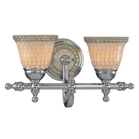 Minka Chrome Mosaic 16 1 4 Quot Wide Wall Sconce The Gems