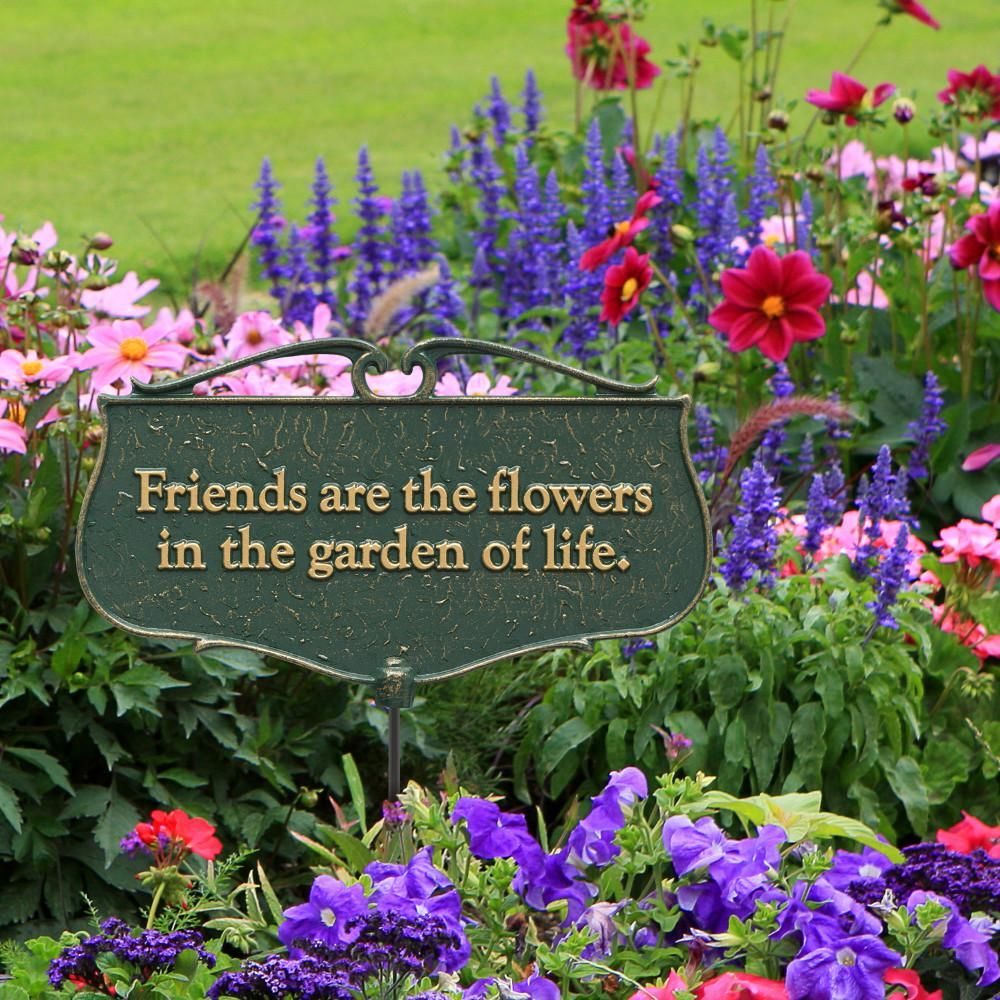 Whitehall Products Green/Gold Friends are the Flowers
