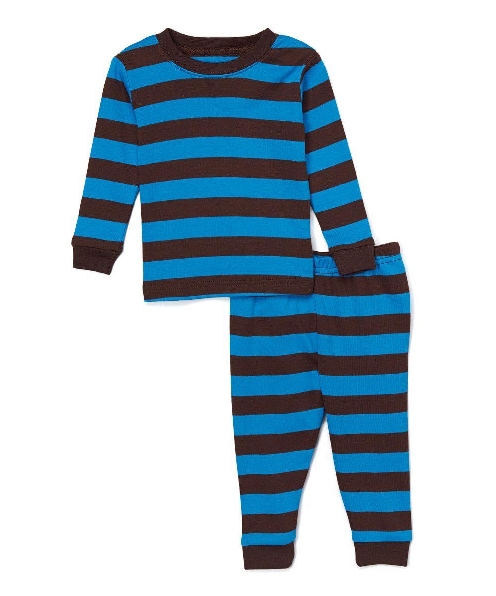 Chocolate   Blue Stripe Pajama Set - Infant Toddler   Boys ... 49e18b94f