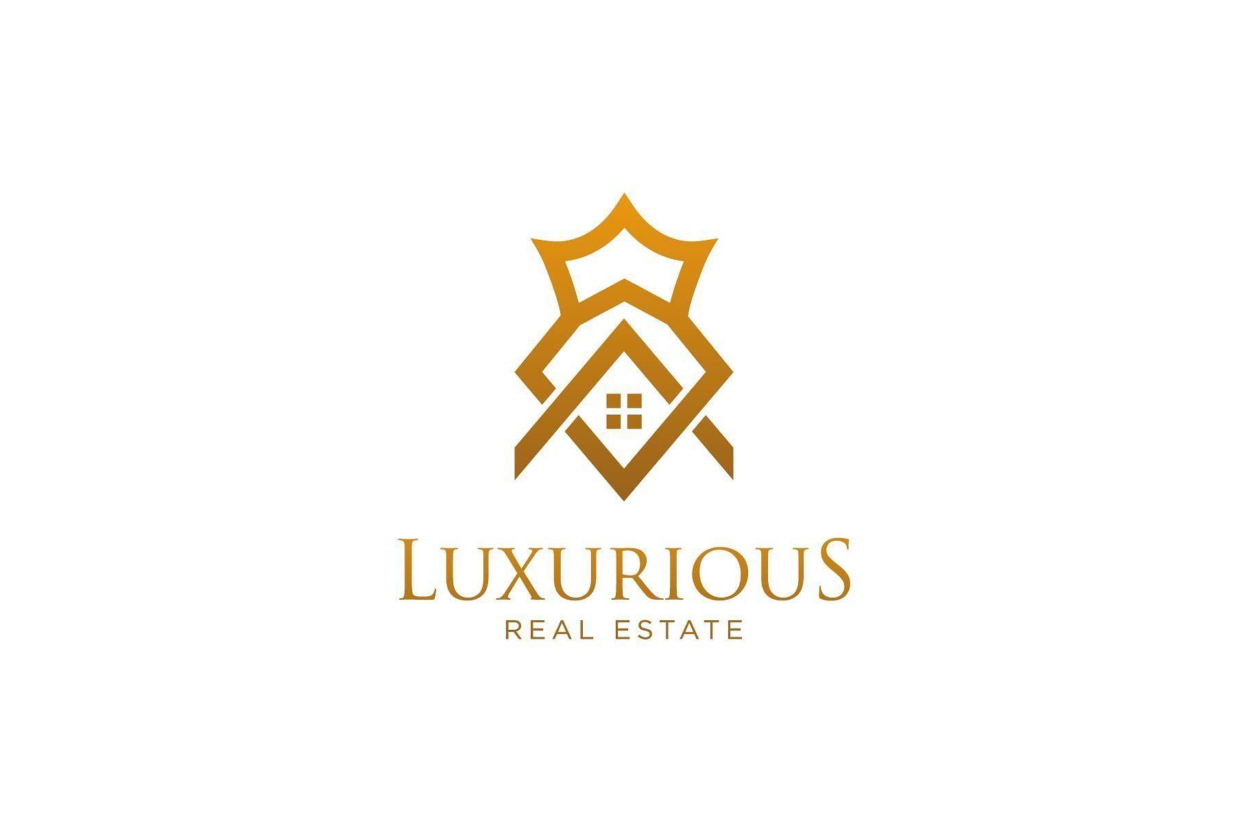 Luxurious Real Estate Logo Interior Logo Logo Design Template