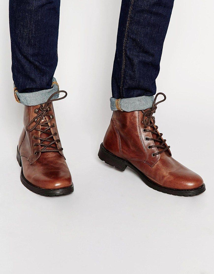 Jack & Jones Crust Leather Boots