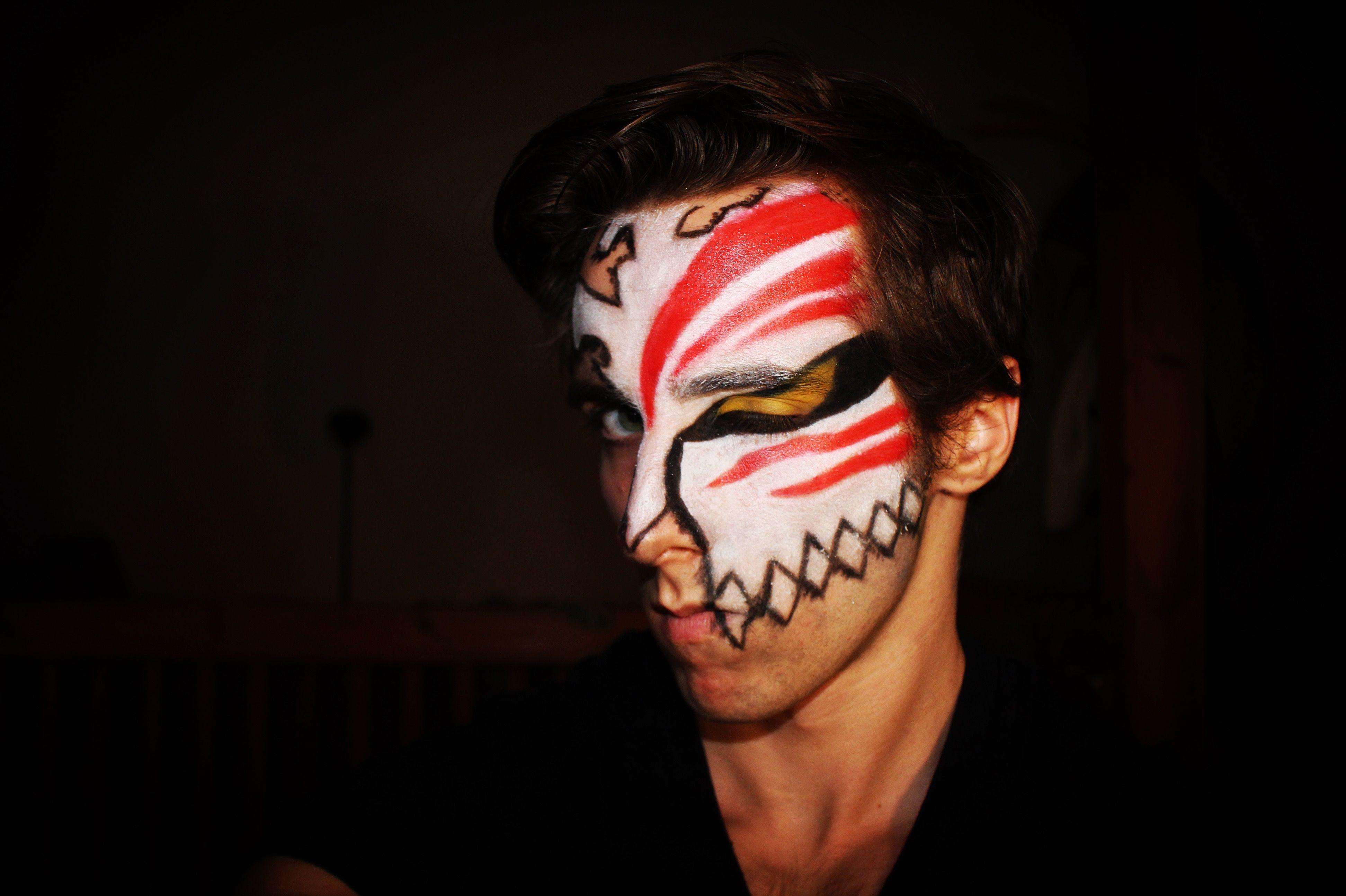 Ichigo Hollow Mask Makeup Ichigo Bleach Hollow Hollowichigo Hollowmask Ichigomask Ichigomakeup Mask Eyeshadow Halloween Face Makeup Mask Makeup Makeup