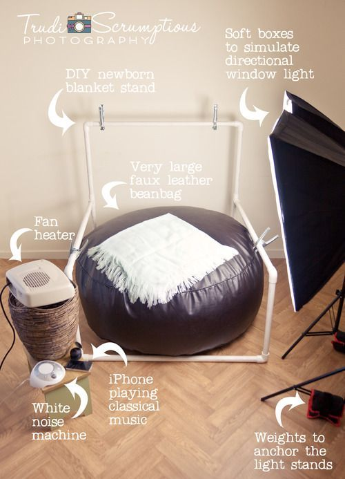 Newborn DIY Blanket Backdrop Stand And Bean Bag Photographer Edinburgh Tap The Link Now