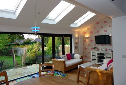 Single storey extension bungalow google search kitchen for House extension interior designs