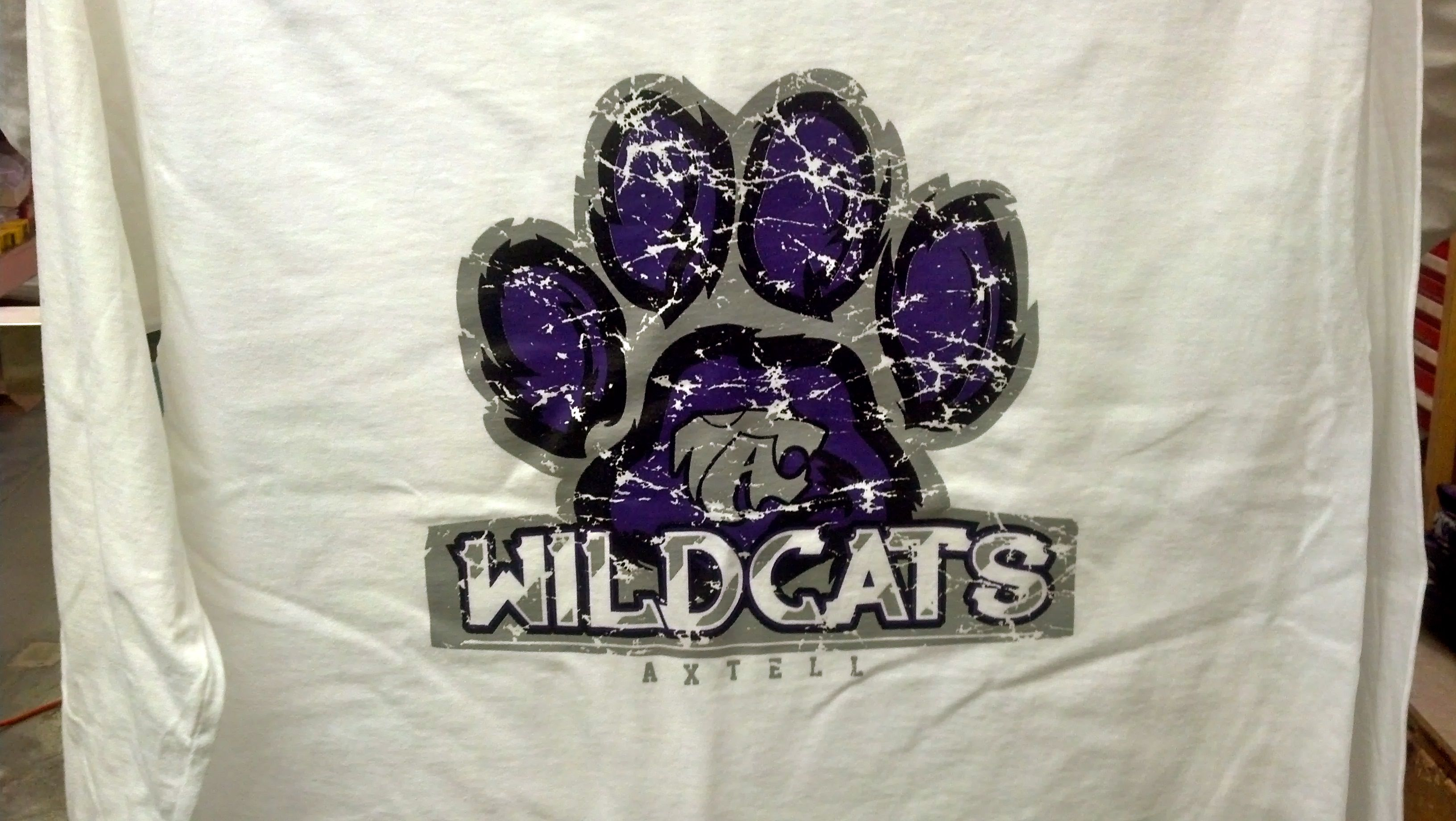 Axtell High School Wildcats T Shirt Design Screen Print