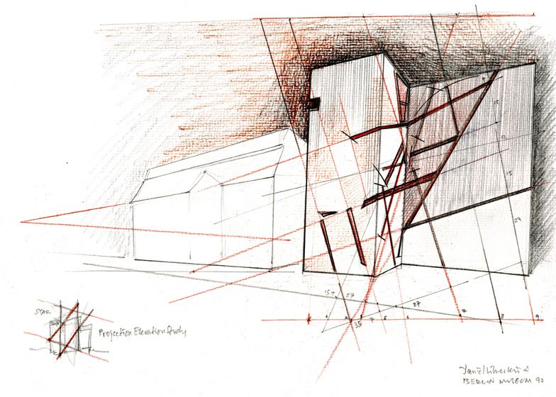 Architectural drawings by daniel libeskind at ermanno for Daniel libeskind architectural style