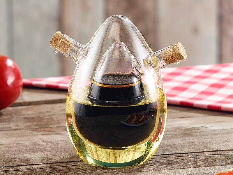 Essig öl Spender rosenstein söhne 2in1 essig und öl spender aus glas rosenstein